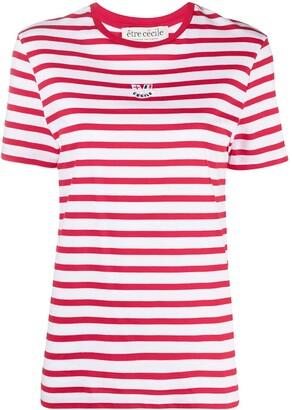 Être Cécile stripe print T-shirt