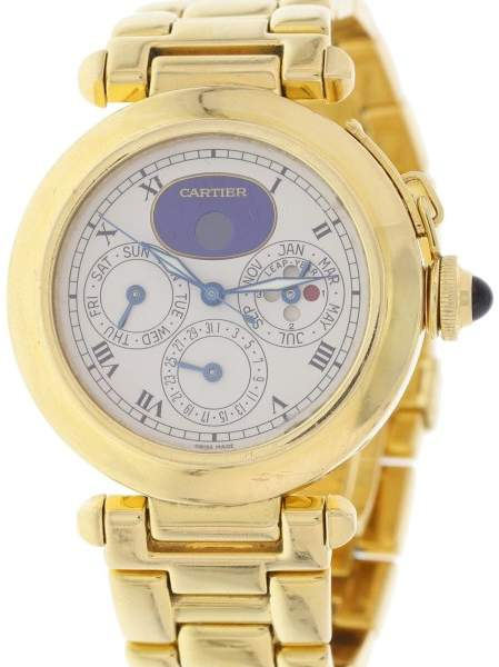 Cartier Pasha 30003 Perpetual Calendar 18K Yellow Gold Automatic 38mm Mens Watch