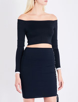 Alexandre Vauthier Off-the-shoulder stretch-jersey cropped top