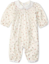 Ralph Lauren Floral Smocked Cotton Coverall