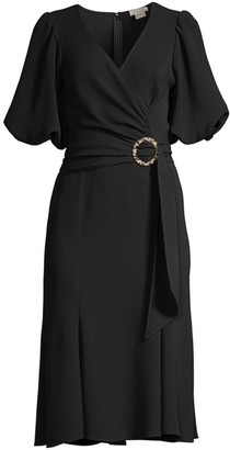 Shoshanna Esmeralda Puff-Sleeve Dress