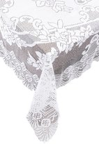 Ritz Lace Tablecloth, 53-Inch by 53-Inch, White