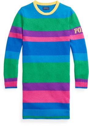 Ralph Lauren Striped Wool Jumper Dress