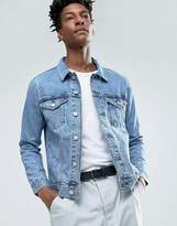Weekday Single Denim Jacket WD Blue Mid Wash