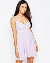 Club L Wrap Front Dress With Crochet Straps