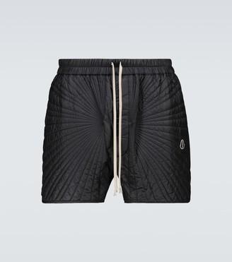 Rick Owens Moncler + padded Boxer shorts