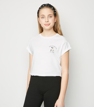 New Look Girls Namastay With My Dog Slogan T-Shirt