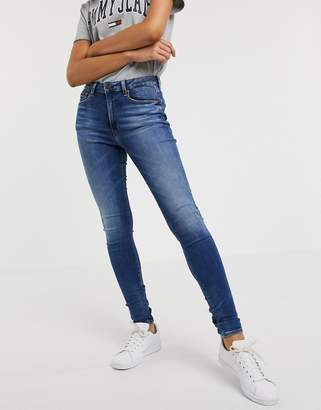 Tommy Jeans high waist super skinny jean-Blue