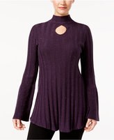Style&Co. Style & Co Mock-Neck Tunic Sweater, Created for Macy's