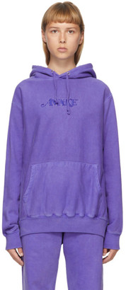 Awake NY Purple Embroidered Logo Hoodie