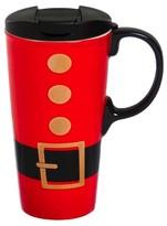 Evergreen Santa Belt Perfect Cup 17oz Ceramic