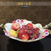 lpkone-A plate of fruit fruit fruit plate large retaurant of European luxury decoration Home Furnihing retro creative living room fruit plate baket