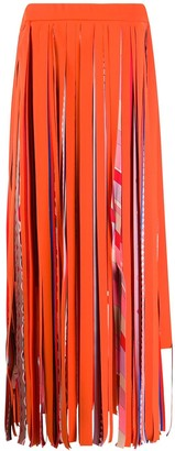 Emilio Pucci Fringed Strapless Dress