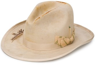 Nick Fouquet Embellished Fedora Hat