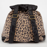 T-Shirt & Jeans Quilted Trim Leopard Backpack