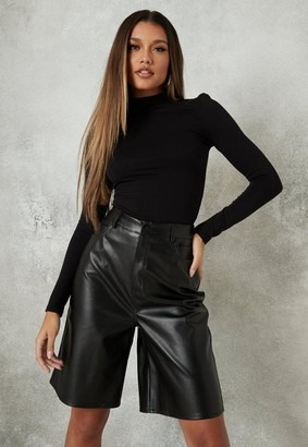 Missguided Black Long Sleeve Turtle Neck Top