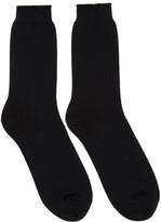 Robert Geller Black Boris Socks