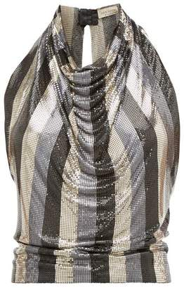 Gianni Versace William Vintage 1983 Oroton Chainmail Top - Womens - Black Gold