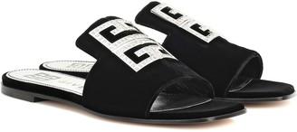 Givenchy 4G embellished velvet sandals