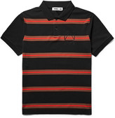 McQ Striped Cotton-Piqué Polo Shirt