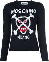 Moschino skull and crossbones sweater - women - Virgin Wool - 38