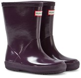 Hunter Purple Kid ́s First Gloss Wellington Boots
