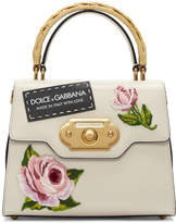 Dolce & Gabbana Pink and Black Small Embroidered Welcome Bag