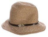 Eugenia Kim Buckle-Accented Raffia Hat