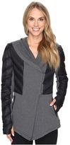 Blanc Noir Wrap Hooded Coat