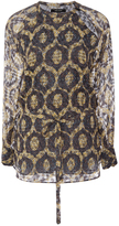 Isabel Marant Cotton Silk Tarik Printed Blouse