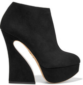 Charlotte Olympia Millie Suede Platform Ankle Boots