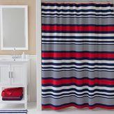 Izod Varsity Stripe Shower Curtain in Blue