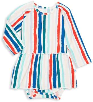 Noë & Zoë Berlin Baby Girl's Striped Peplum Bodysuit