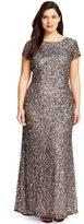 Adrianna Papell Sequined Bateau Neck Sheath Dress 91874600