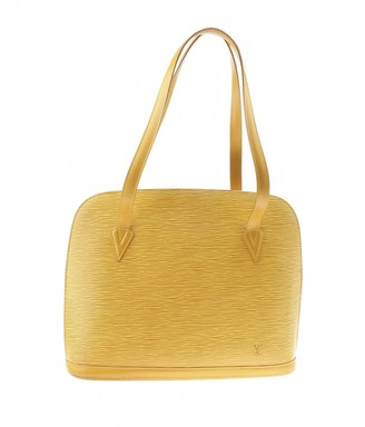 Louis Vuitton Lussac Yellow Leather Handbags