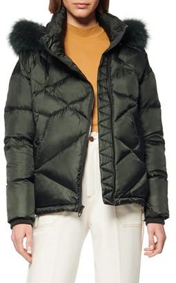 Andrew Marc Artistic Puffer Jacket with Genuine Fox Fur Trim