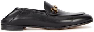 Gucci Brixton black horsebit leather loafers
