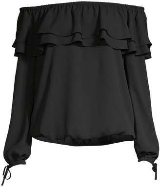MICHAEL Michael Kors Off-The-Shoulder Ruffle Top