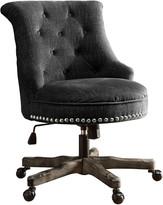 Linon Sinclair Office Chair Charcoal