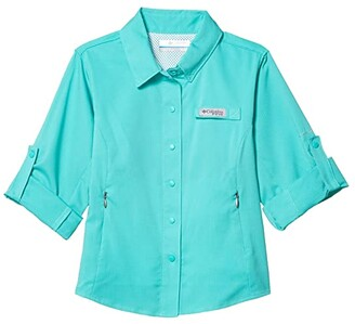 Columbia Kids Tamiamitm Long Sleeve Shirt (Little Kids/Big Kids) (Dolphin) Girl's Clothing
