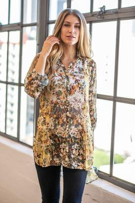 Olive Hill Floral Chiffon Tunic