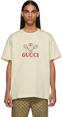 Gucci White GG Tennis Club T-Shirt