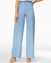 The Edit By Seventeen Juniors' Chambray Pants, Only at Macy's
