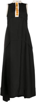 Jil Sander Long Pintuck Detailed Dress