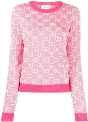 Gucci Supreme-jacquard jumper