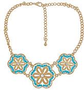 Blu Bijoux Triple Floral Pendant Necklace