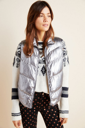 Anthropologie Metallic Puffer Vest