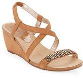 Anne Klein Jasia Embellished Wedge Sandals
