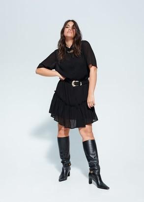 MANGO Violeta BY Plumeti long dress black - 10 - Plus sizes