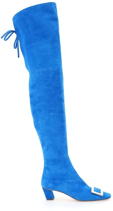 Roger Vivier Vivier Suede Over The Knee Belle Boots